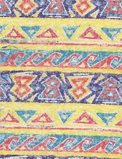 Fabric Southwest Print Yellow Blue Purple Red Flannel