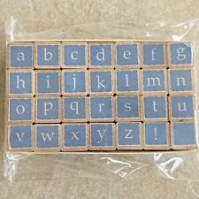 Alphabet Set RUBBER STAMPS by Hero Arts SHADOW BLOCKS LowerCase Letters NEW