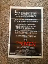 The Omen Original Movie Poster 1976 One Sheet 27x41 Gregory Peck Horror Folded