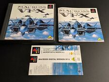 Macross Digital Mission Vf-X PLAYSTATION 1 PS1 Japón Importado Buen con Obi Lomo
