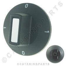 VALENTINE 5166 FRYER CONTROL KNOB 50mm 6x4.6mm SHAFT 0-1-0-1 EGO 0000524056