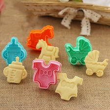Smart 3D Baby Clothes Shower Hand Press Stamp  Cookie Plunger Cutter Molds 1Set