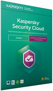 KASPERSKY SECURITY CLOUD FAMILY 2021 - 20 PC DEVICES - MULTI DEVICE - Download