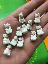 Lot Of 12 Safari Ltd. Good Luck Minis Maneki-neko Lucky White Cat Dozen Figures