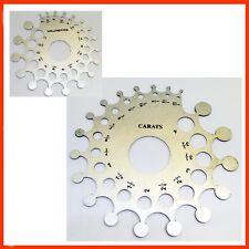 Diamond Gauge Baker Weight Estimator Carat MM Size Aluminum Mounting Gauge
