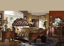 Antique Traditional Forml Luxury Queen King Size Bed Set Bedroom Home Furniture