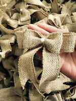 4 inches - 12pcs  small burlap bows -Home Wedding Christmas Decor -