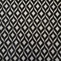 Black Silver Geometric Chenille Heavy Weight Furnishing Upholstery Fabric