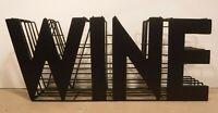 Brown Unique Metal Five Wire Table Shelf Wine Sign Decor Drink