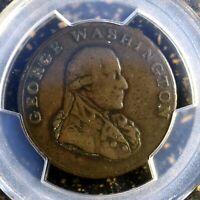 Very Nice 1795 PCGS VF30 Colonial Birmingham Edge Washington 1/2 P Coin