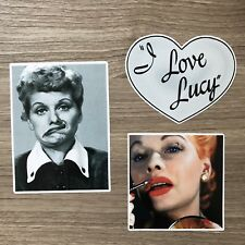 I Love Lucy Lucille Ball Vinyl Sticker Set - Free Shipping