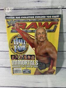 WWE Raw Magazine 2005 April HULK HOGAN Hall of Fame Class of 2005 Sealed Plastic