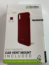 Evutec Case Compatible with iPhone Xs Max, Ballistic Nylon Protective Case (Red)