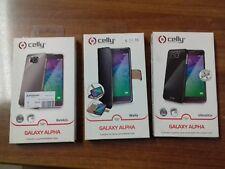 Stock 25pz COVER PORTAFOGLIO chiusura magnetica libro per Samsung Galaxy ALPHA