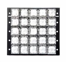 1pc White Keyboard 5x5 25 keys Metal Panel SPST Machine type Pushbutton Switch