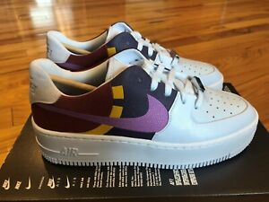 Nike Women's Air Force 1 Sage Low LX Football Grey Dark Orchid BV1976 003 Sz 8.5