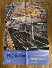 NY YANKEES NYCTA MTA ART OLD YANKEE STADIUM SUBWAY POSTER. 29x44 Inches 1999