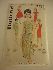 Vintage 1960s Butterick Size 11 2460 evening dress jacket cut pattern bust 31.5