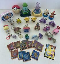 Vintage Pokemon Toys RARE Nintendo Keychains Burger King Stamps Banks Cards+