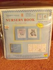 Vtg 2004 NOS NIP Soft 10 Pg Personalized Baby Zoo Animals Book EMBROIDERY KIT