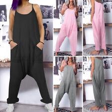 New Womens Ladies Boobtube Lagenlook Romper Baggy Harem Jumpsuit Playsuit