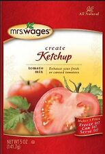 6 PACKS! Mrs. Wages Ketchup Tomato Mix Homemade FREE SHIP!