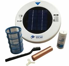 Chlorine Free Solar Powered Robotic 22000 Gallon Pool Cleaner Ionizer Purifier