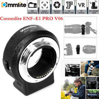 Commlite CM-ENF-E1 PRO V06 Lens Mount Adapter for Nikon F Lens for Sony E-mount