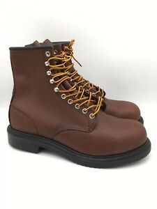 """Red Wing Supersole 8"""" Safety Steel Toe Brown Leather Boot [2233] Men's Size 9"""