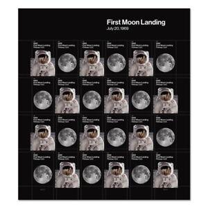 USPS New 1969:  First Moon Landing Pane of 24