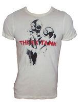 T-shirt maglietta maglia Kaos colore sabbia uomo 100% Cotone stampata Taglia M