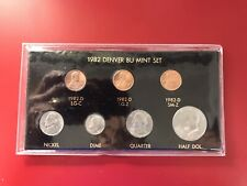 1982 D Brilliantly Uncirculated Mint Set Of 7 Coins BU
