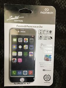 Naztech Premium Tempered Glass Screen Protector - iPhone 6 [Silver]