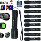 10PC 15000LM 3Mode XML T6 LED 18650 Zoomable Flashlight Torch Lamp Light Camping