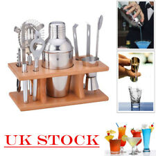 8pcs Stainless Steel Cocktail Shaker Mixer Bar Tool Set Martini Maker Pro Kit UK