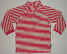Size 00 - Bonds Baby Girls Pink/White Striped Tee Shirt Long Sleeves
