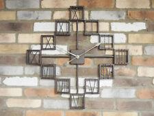 New Extra Large Vintage Antique Metal Decorative Wall Art Skeleton Clock 70cm