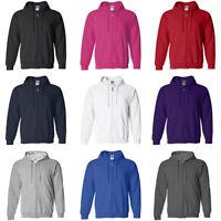 Adult Unisex Mens Plain Fleece Hoodie Hooded Jacket Zip Up Jumper Sweatshirt Top