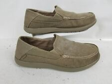 Crocs Men's Santa Cruz Khaki Gray Slip On Casual Canvas Shoes Size US 12