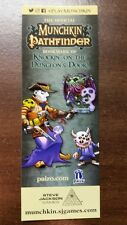Munchkin Pathfinder Knockin On Dungeons  Promo Bookmark SJ Games Shane White Art