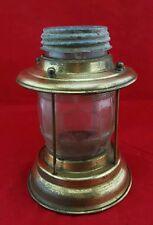 Vintage Brass Maritime Nautical Lamp Hazel Atlas 5920 Glass barrel grenade Globe
