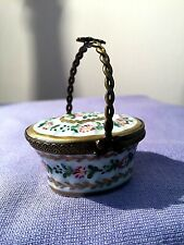 Limoges Basket Trinket Box
