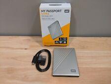 WD 1TB My Passport Ultra Silver Portable External HD, USB-C (WDBC3C0010BSL)