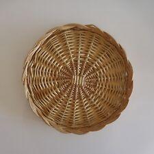 Plateau de service en osier wicker tray fait main handmade art déco France