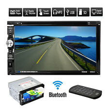 """Double HD 2Din 7""""In Dash Stereo Car DVD CD Player Touch Radio Bluetooth SD USB"""