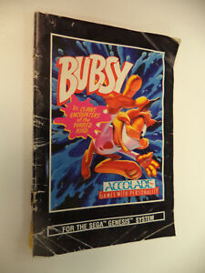 Bubsy Sega Genesis Instruction Manual Booklet