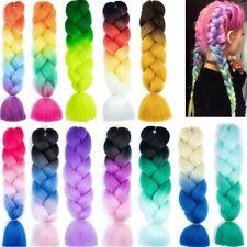 "2Pcs 24"" Xpression Braiding Hair Kanekalon Ombre Afro Jumbo Braids Weaving Hair"