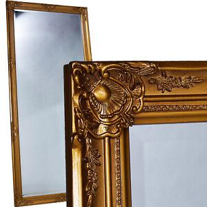 Wandspiegel Spiegel gold ca. 180 x 80 cm Antik-Stil barock m. Facettenschliff