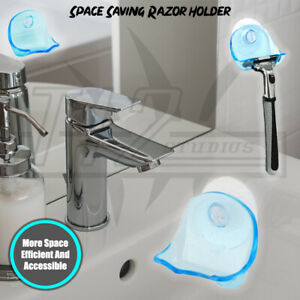 Bathroom Space Saving - Shaver Holder - Mirror Suction Cup Razor Hook Rack Tool