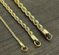 Lot 5pcs Gold 4mm 21.6'' Women Necklace stainless steel Twisted chain Jewelry